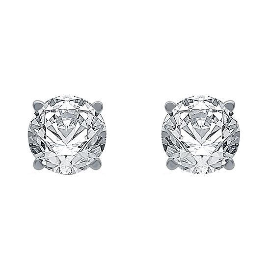 Ever Star 1 CT. T.W. Lab Grown White Diamond 10K Gold Stud Earrings