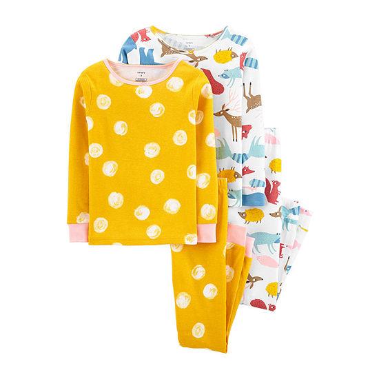 Carter's Little Girls 4-pc. Pajama Set