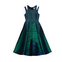 Rare Editions Big Girls Sleeveless Fit & Flare Dress, 12 , Green