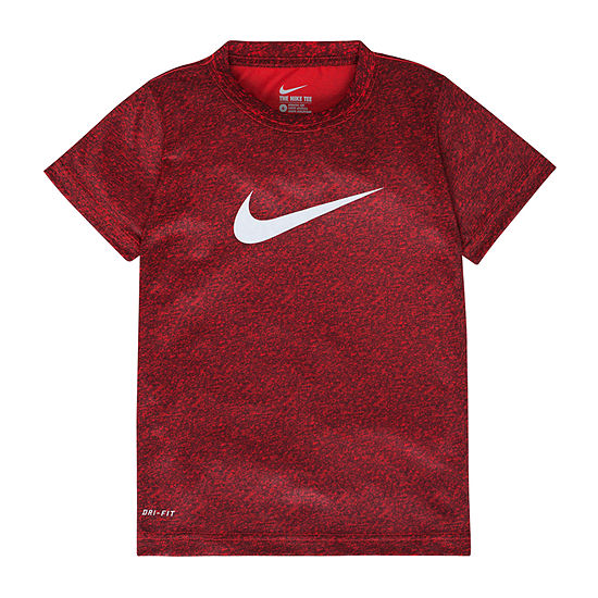 Nike Little Boys Dri-Fit Crew Neck Short Sleeve Graphic T-Shirt