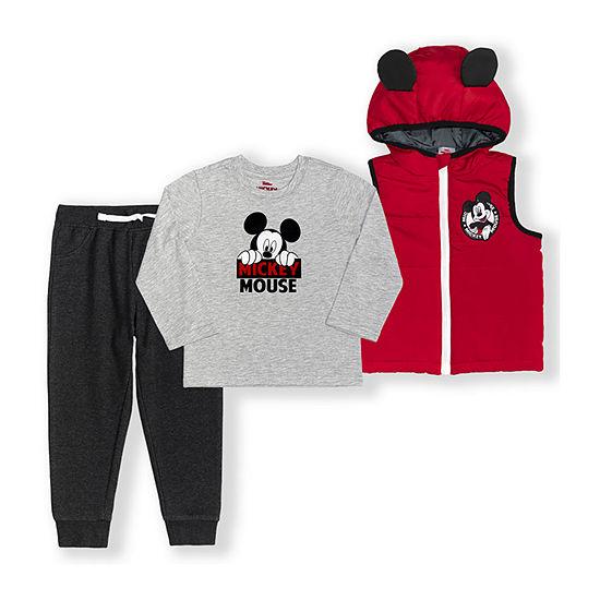 Disney Toddler Boys Mickey Mouse 3-pc. Pant Set