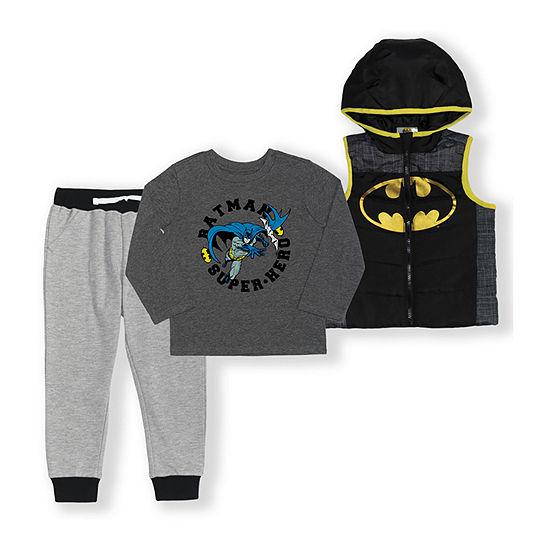 Warner Bros Toddler Boys Batman 3-pc. Pant Set