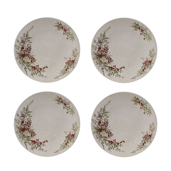 Certified International Holiday Traditions 4-pc. Dinner Plate