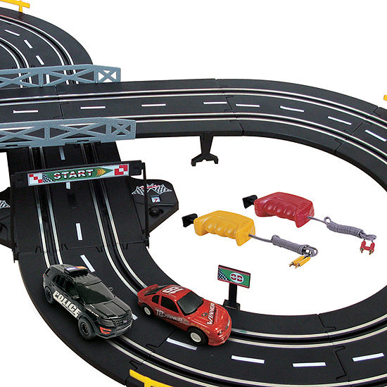 Battery Operated Police Chase Road Set