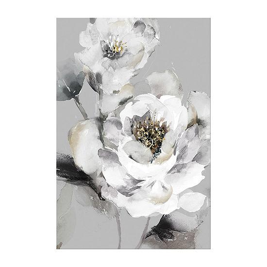 Boston Warehouse 24x36 Roses In Cream Canvas Art