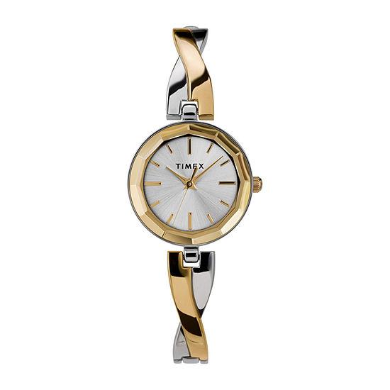 Timex Womens Gold Tone Bracelet Watch - Tw2u69700ji