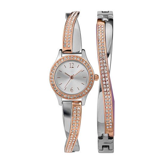Timex Womens Rose Goldtone 2-pc. Watch Boxed Set-Twg023700ji