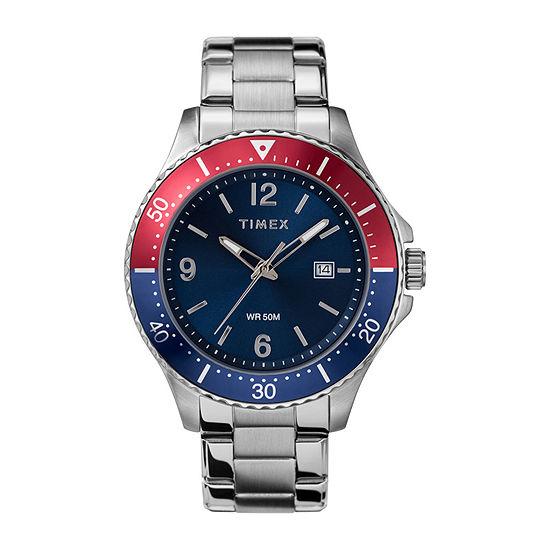 Timex Mens Silver Tone Stainless Steel Bracelet Watch Tw2u29000ji