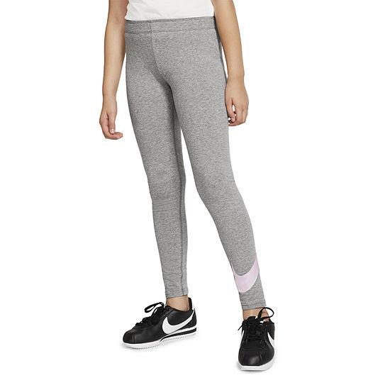 Nike Big Girls Mid Rise Full Length Leggings