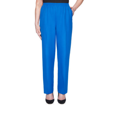 Alfred Dunner Essential Elements Womens Straight Pull-On Pants