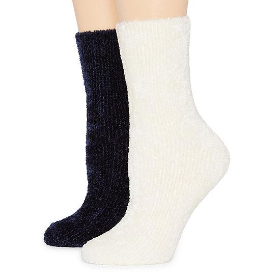 Legale 2 Pair Womens Chenille Socks