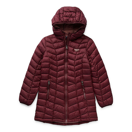 Reebok Big Girls Packable Midweight Puffer Jacket