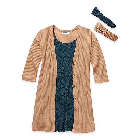 Knit Works Little & Big Girls Sleeveless 2-pc. Dress Set