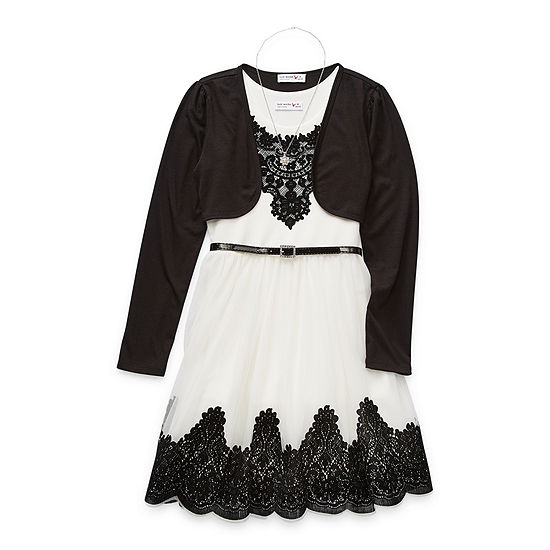 Knit Works Little & Big Girls Embellished Sleeveless 2-pc. Dress Set