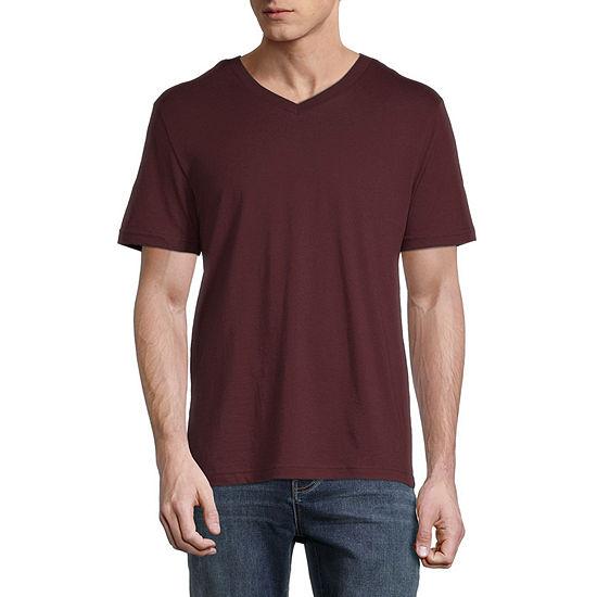 Arizona Mens Super Soft V Neck Short Sleeve T-Shirt