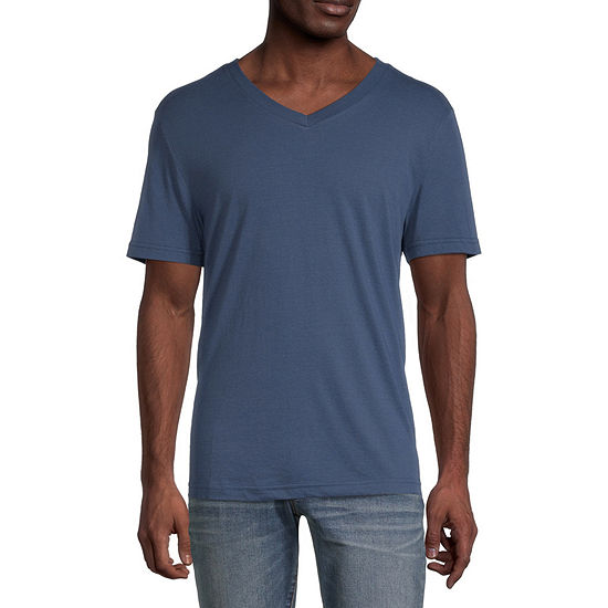 Arizona Mens Super Soft V Neck Short Sleeve T-Shirt