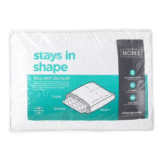 JCPenney Home Stays in Shape Inner Core Support Down Alternative Pillow