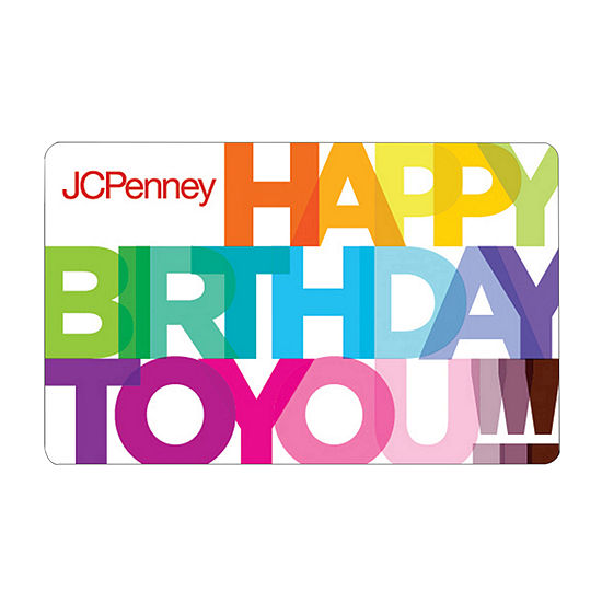 Colorful Happy Birthday Gift Card