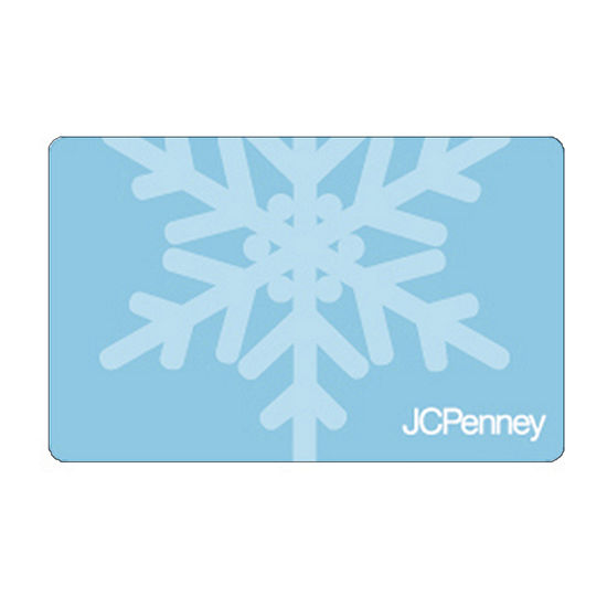 Blue Snow Flake Gift Card