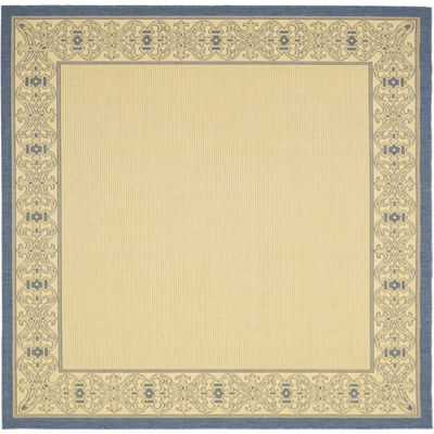 Courtyard Tribal Indoor/Outdoor Square Rugs