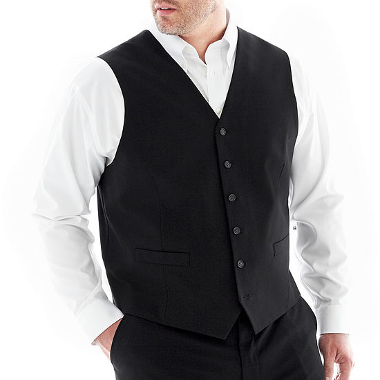 JF J. Ferrar® Stretch Gabardine Suit Vest–Big & Tall