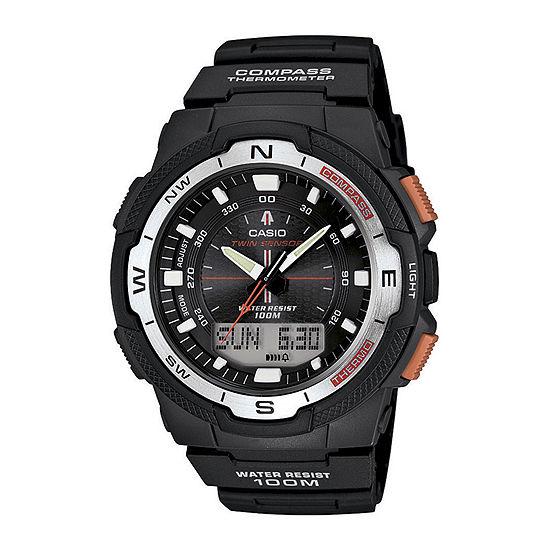 Casio Mens Black Strap Watch-Sgw500h-1bv