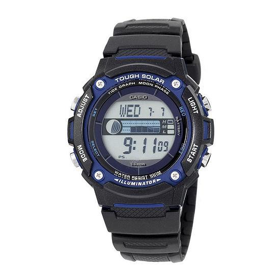 Casio Mens Digital Black Strap Watch-Ws210h-1avcf