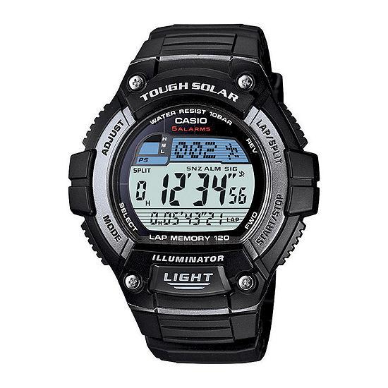 Casio Mens Digital Black Strap Watch-Ws220-1a