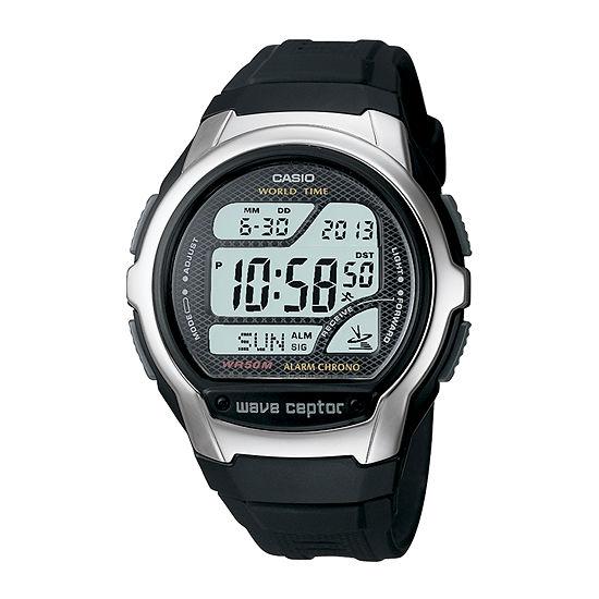 Casio Mens Digital Black Strap Watch-Wv58a-1av