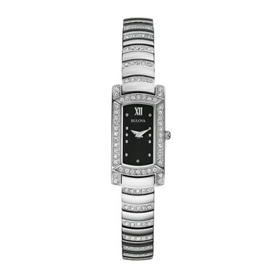 Bulova® Womens Crystal-Accent Stainless Steel Bracelet Watch 96L202