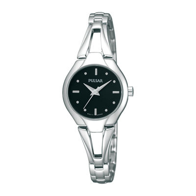 Pulsar® Womens Silver-Tone Bangle Watch PRS663X