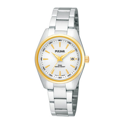 Pulsar® Womens Stainless Steel Bracelet Watch PJ2010X