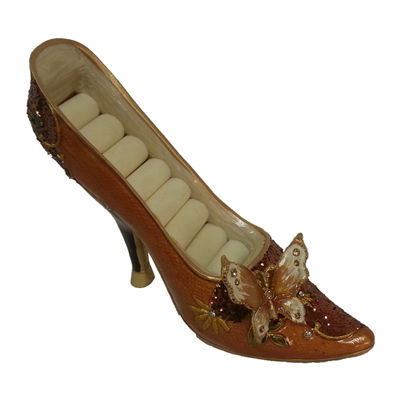 Brown Butterfly Shoe Ring Holder