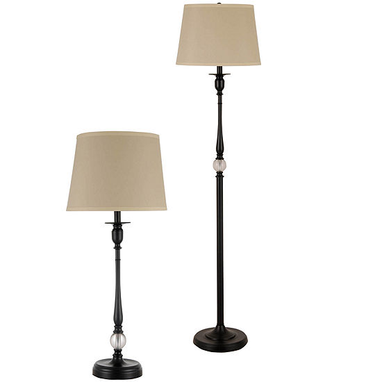 Jcpenney Home 2 Pc Acrylic Floor And Table Lamp Set