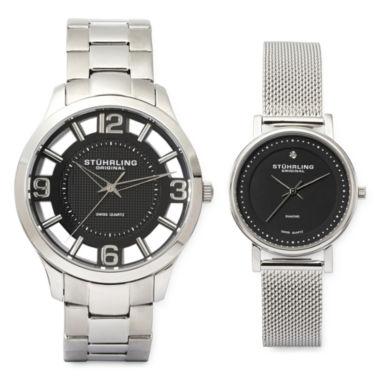jcpenney.com | Stührling® Original Stainless Steel Spoke-Style Watch