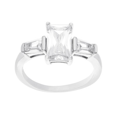 Silver Enchantment™ Cubic Zirconia Sterling Silver Engagement Ring