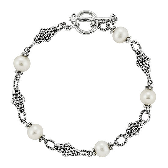 Shey Couture Cultured Freshwater Pearl Sterling Silver Bracelet