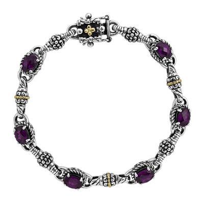 Shey Couture Sterling Silver Genuine Rhodolite Garnet Bracelet