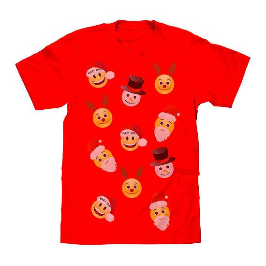 Christmas Smiley T Shirt