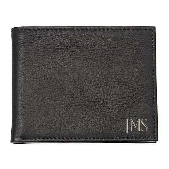 Personalized Bi-Fold Leather Wallet with Multi-Function Tool