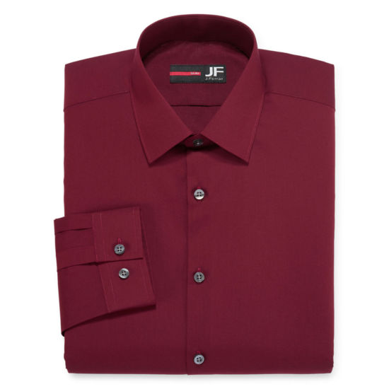 J. Ferrar® Long-Sleeve Easy-Care Solid Dress Shirt - Big & Tall