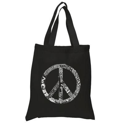 Los Angeles Pop Art Peace  Love & Music Tote