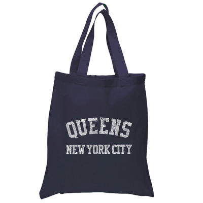 Los Angeles Pop Art Popular Neighborhoods In Queens NY Tote