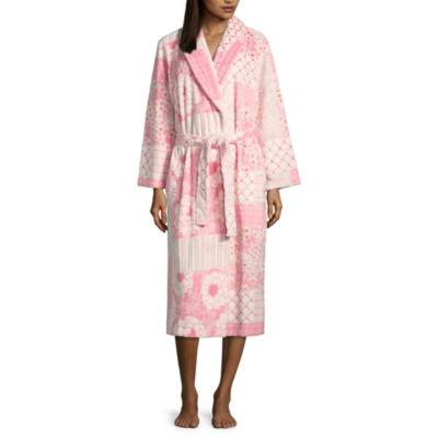 Jasmine Rose Burnout Royal Plush Robe