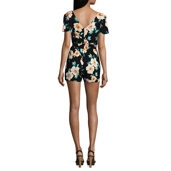 by&by Sleeveless Romper-Juniors