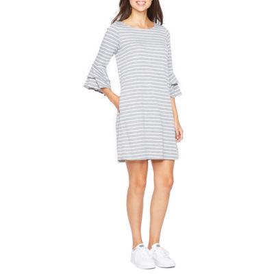 Alyx 3/4 Sleeve Stripe Shift Dress