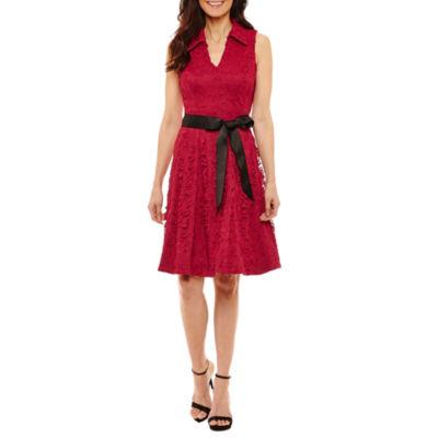 Robbie Bee Sleeveless Shirt Dress-Petites