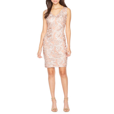 Blu Sage Sleeveless Embellished Sheath Dress