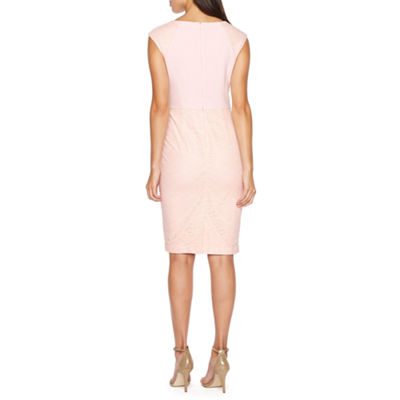 Liz Claiborne Cap Sleeve Lace Sheath Dress