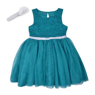 Nanette Baby Sleeveless Special Occasion Dress- Toddler Girls